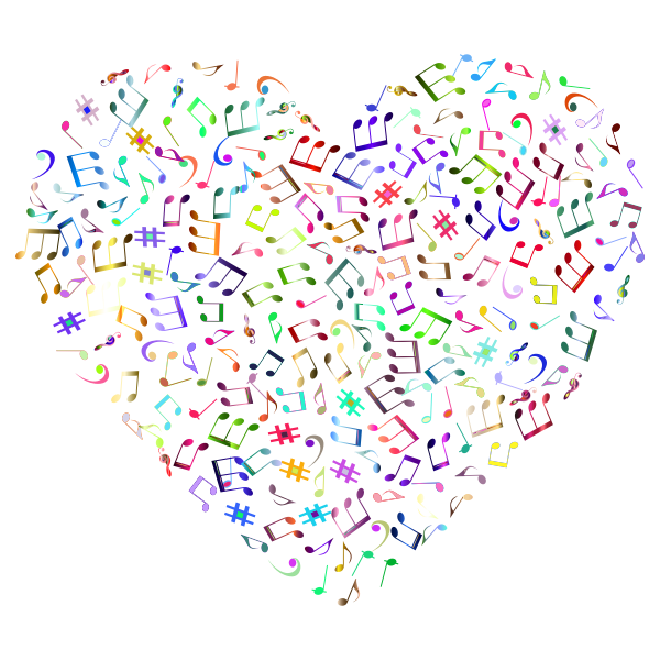 Prismatic Musical Heart 4 3 No Background