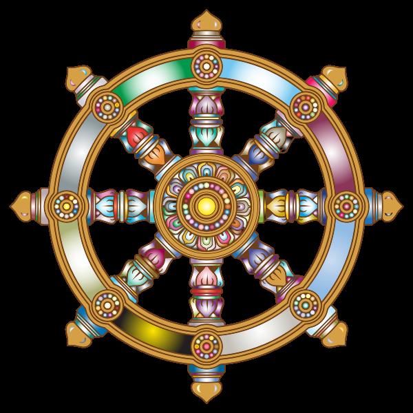 Prismatic Ornate Dharma Wheel 3