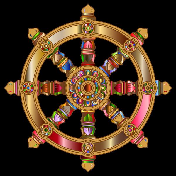 Prismatic Ornate Dharma Wheel 4