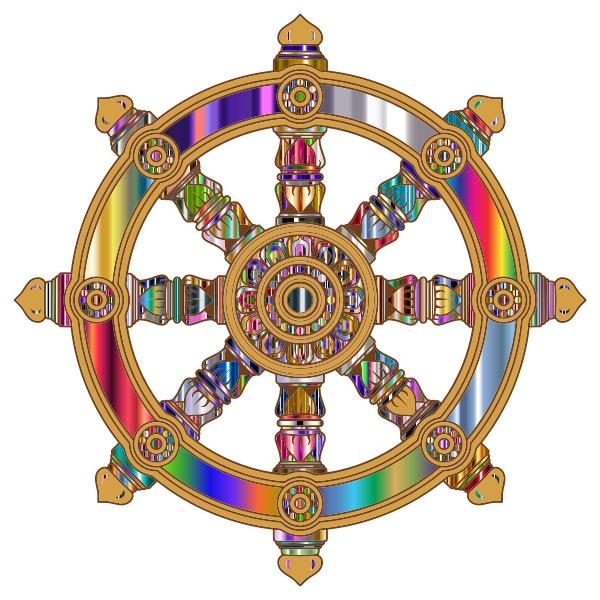 Prismatic Ornate Dharma Wheel 6