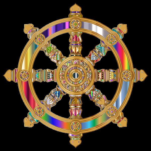 Prismatic Ornate Dharma Wheel 7