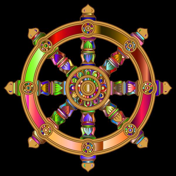 Prismatic dharma wheel