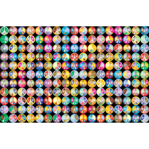 Prismatic Peace Sign Background 2