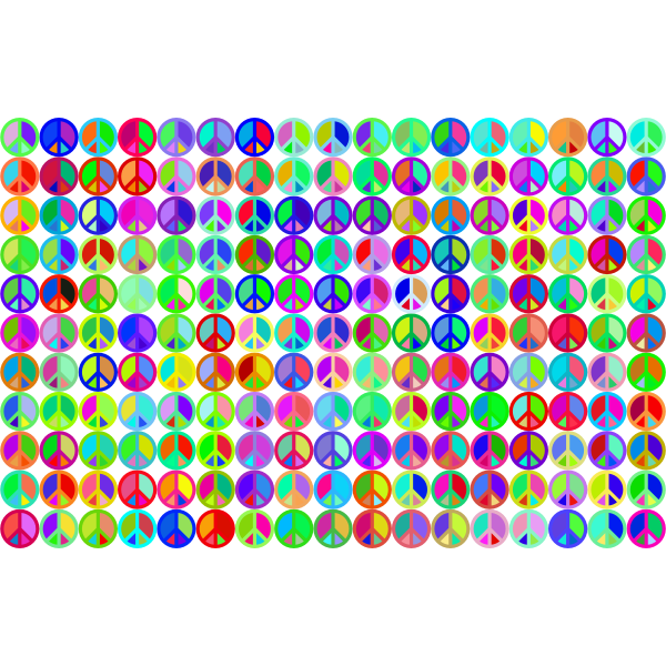 Prismatic Peace Sign Background 3 No Background