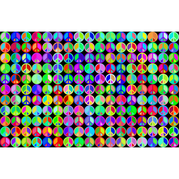 Prismatic Peace Sign Background 3