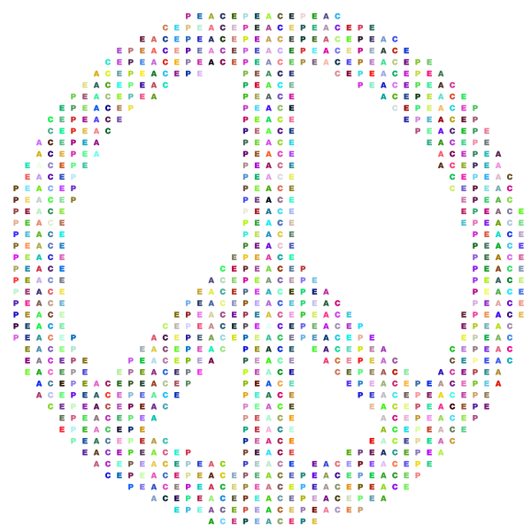 Prismatic Peace Sign Typography