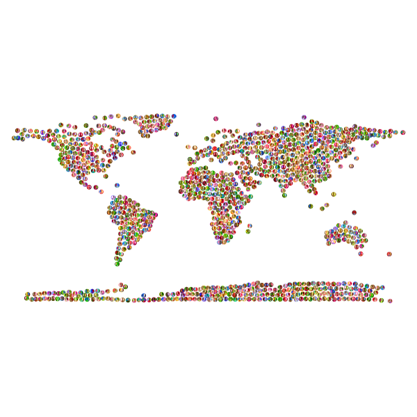 Prismatic Peace Sign World Map 4 No Background