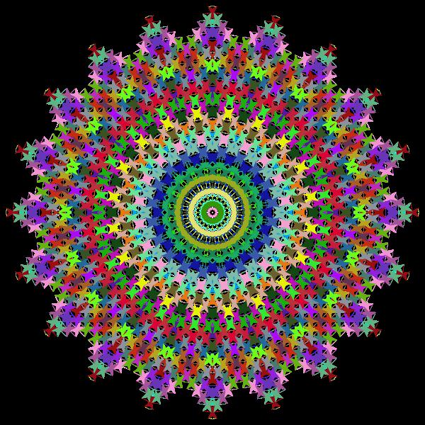 Prismatic Perforated Mandala No Background
