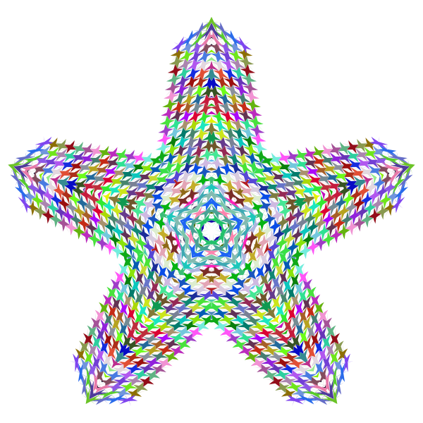 Prismatic Perforated Star No Background