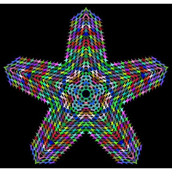 Prismatic Perforated Star
