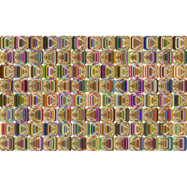 Prismatic Perspective Illusion 2 Pattern 4 Variation 4