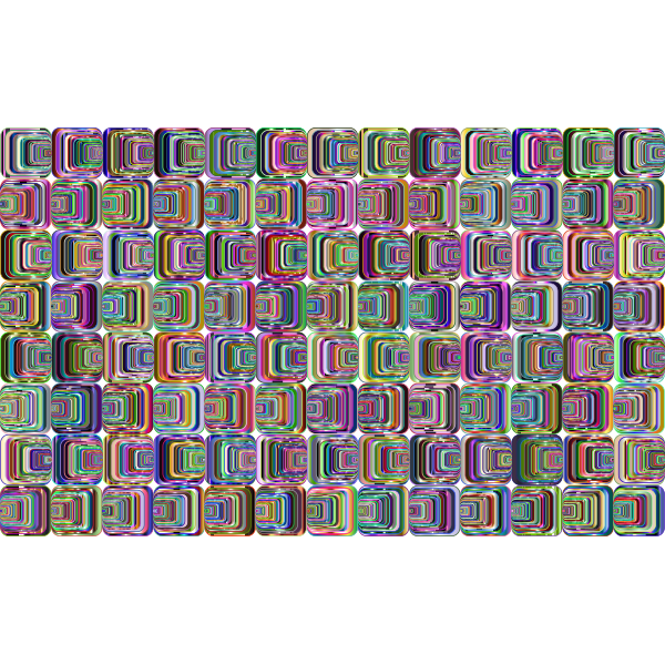 Prismatic Perspective Illusion 2 Pattern 4 Variation 5