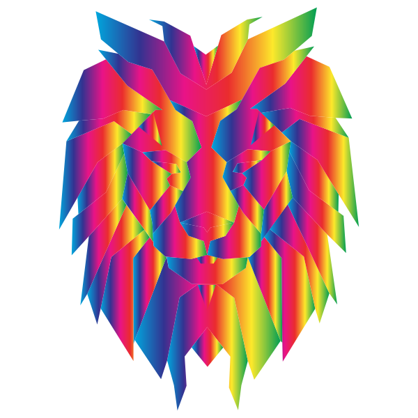 Prismatic Polygonal Lion Face 2