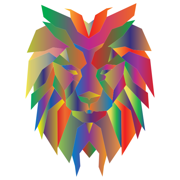 Prismatic Polygonal Lion Face