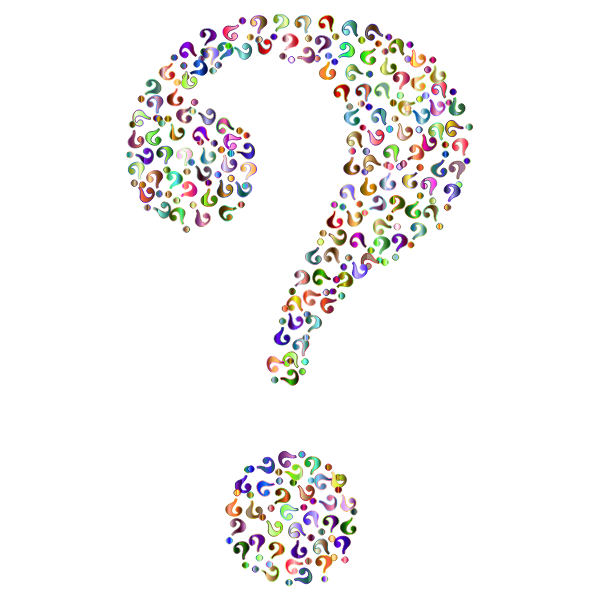 Prismatic Question Mark Fractal 9 No Background
