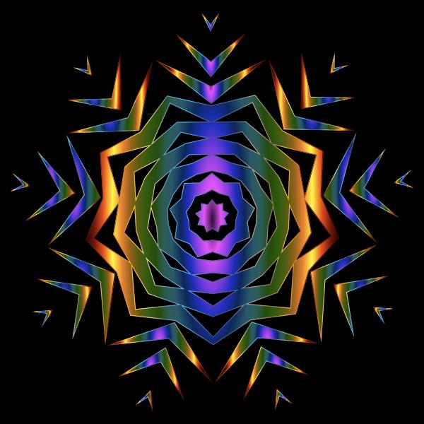 Prismatic Snowflake 2