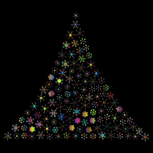 Prismatic Snowflake Christmas Tree 2