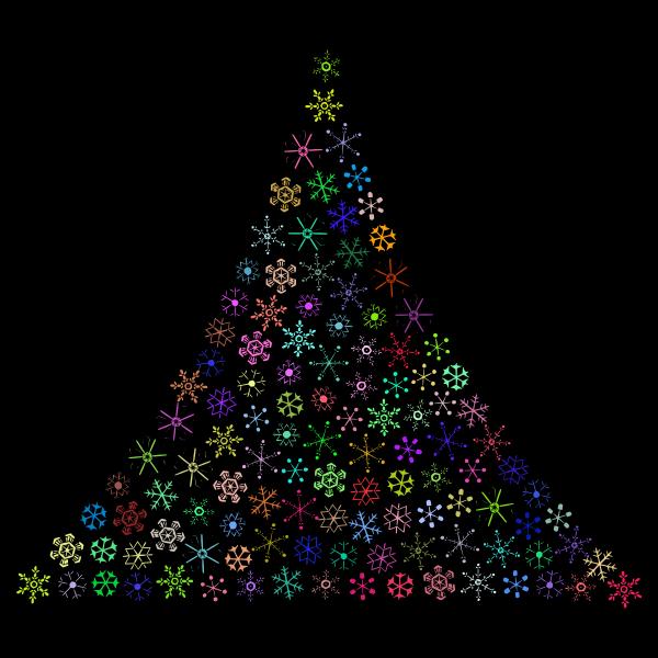 Prismatic Snowflake Christmas Tree