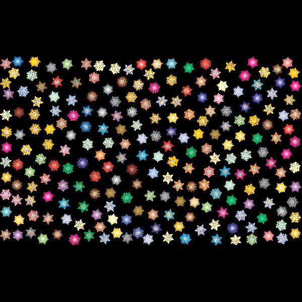 Prismatic Snowflakes Pattern 2 No Background