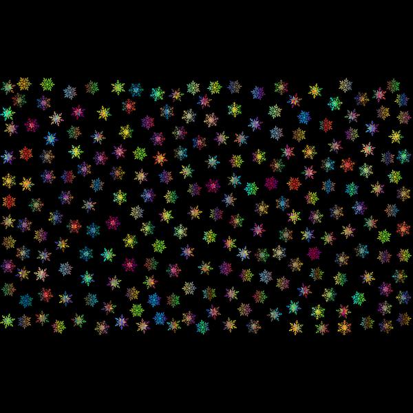 Prismatic Snowflakes Pattern 3