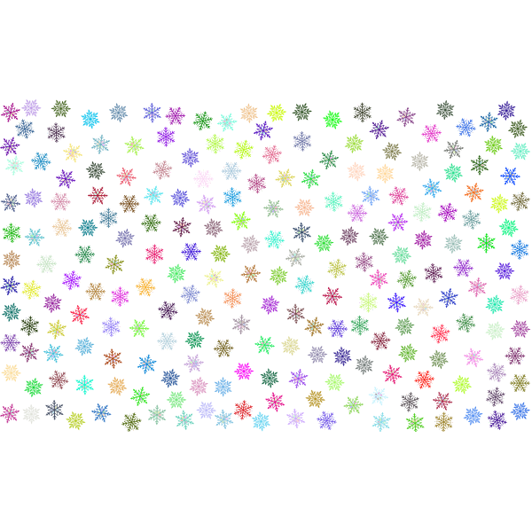 Prismatic Snowflakes Pattern No Background