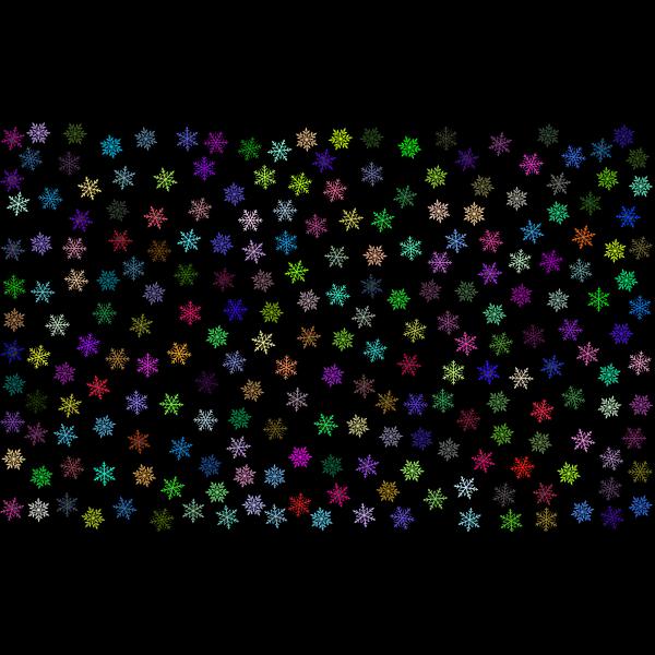 Prismatic Snowflakes Pattern