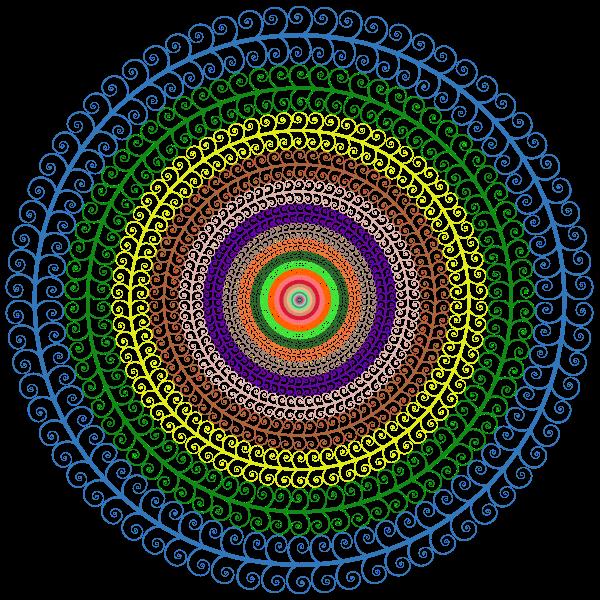 Prismatic Spiral Tree Circle No Background