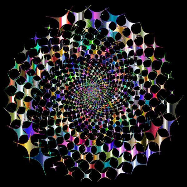 Prismatic Starburst Vortex 4 Variation 2 With Background