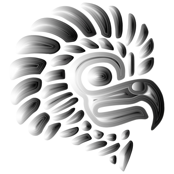 Prismatic Stylized Mexican Eagle Silhouette 4
