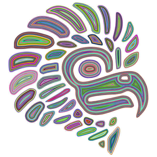 Prismatic Stylized Mexican Eagle Silhouette