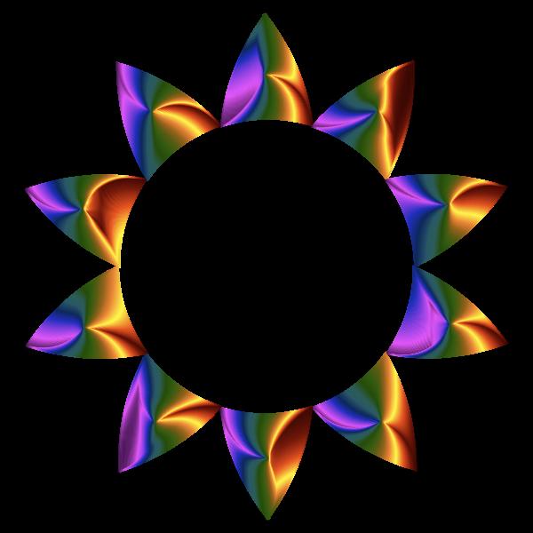 Prismatic Sun Line Art No Background