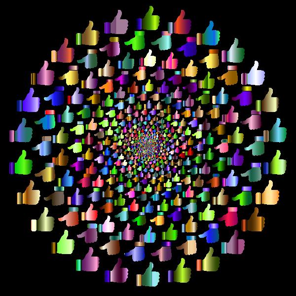 Prismatic Thumbs Up Vortex 4 No Background
