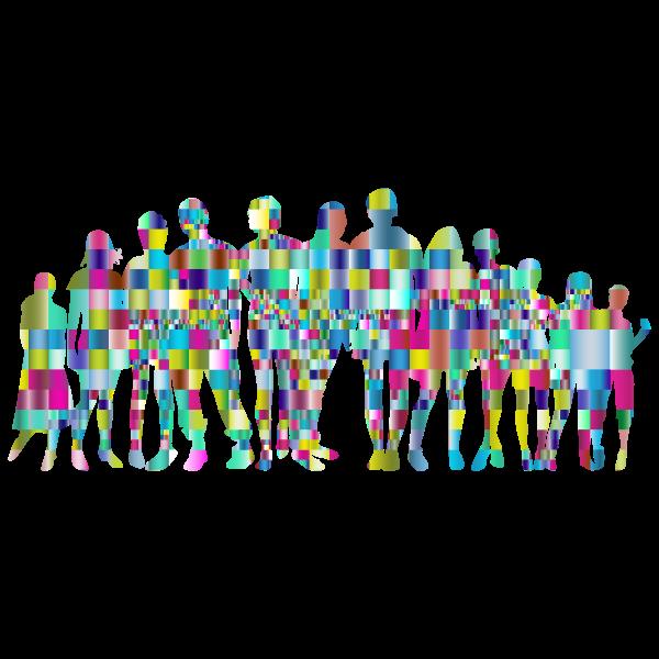 Prismatic Tiles Human Family