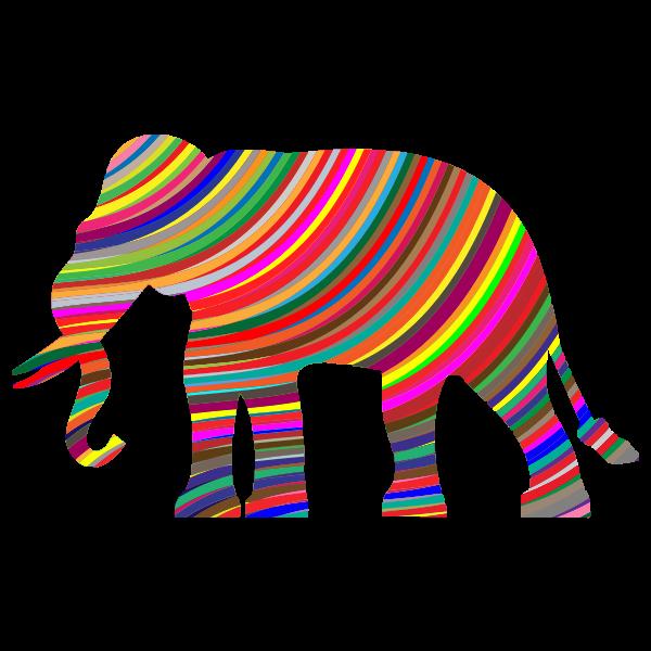 Prismatic Waves Elephant