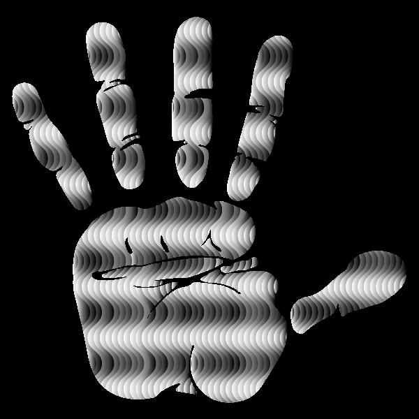 Prismatic Waves Handprint Silhouette 4