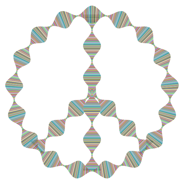 Prismatic Waves Peace Sign