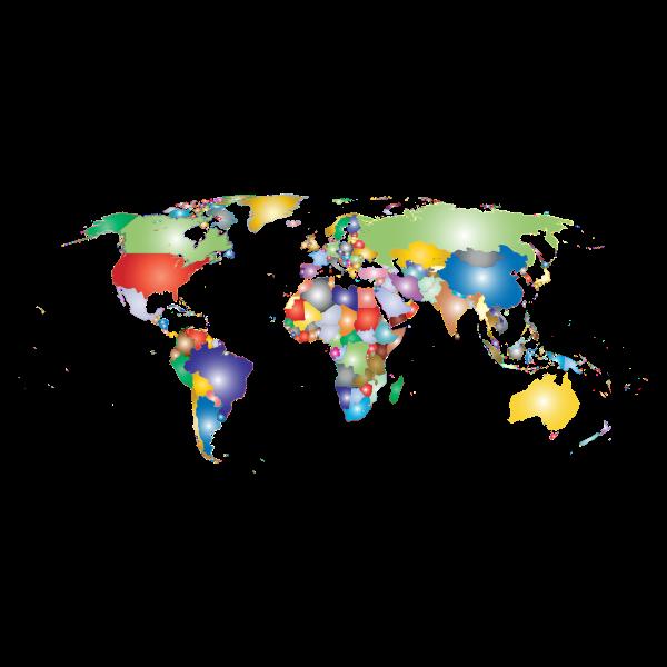 Prismatic World Map 2