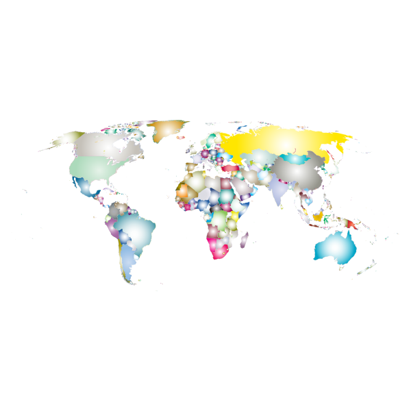 Prismatic World Map 3