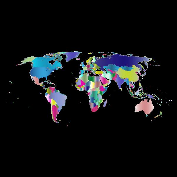 Prismatic World Map 4