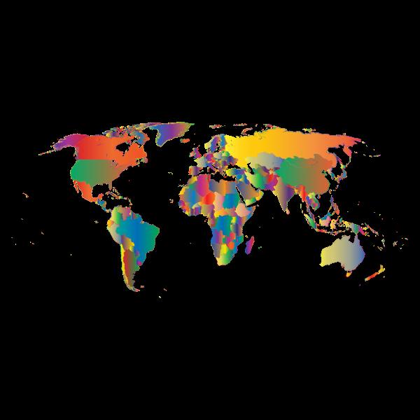 Prismatic World Map 5