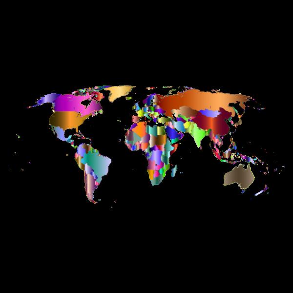 Prismatic World Map 8
