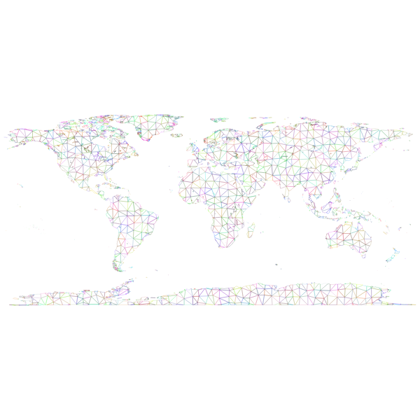 Prismatic world map
