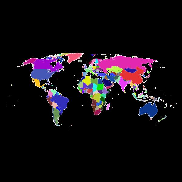 Prismatic World Map