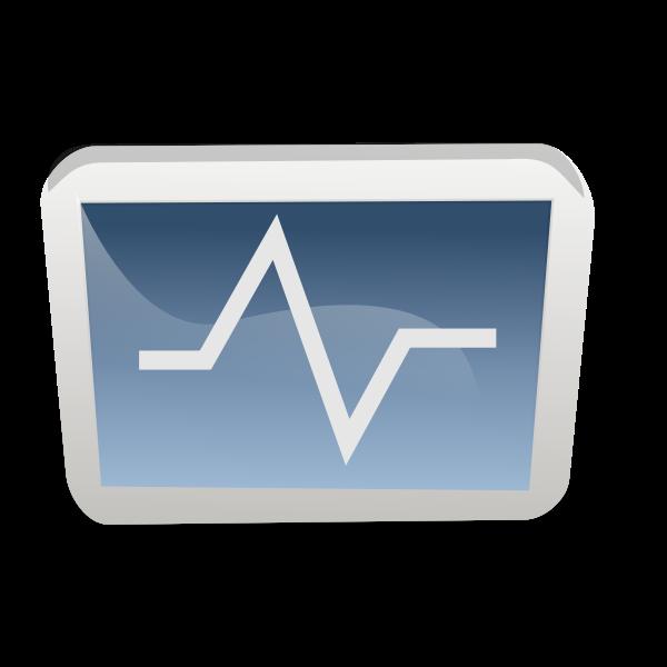 Heart monitor icon vector illustration