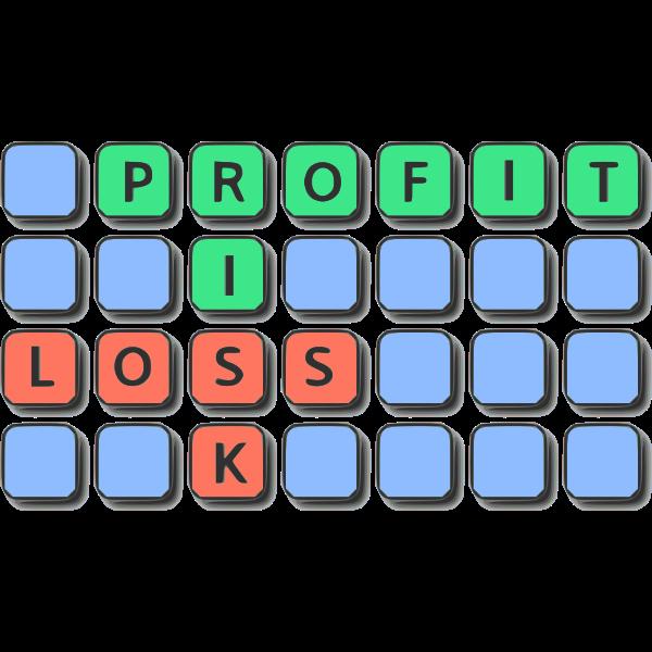 Profit risk loss symbol
