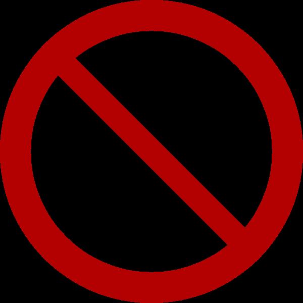 Prohibition symbol vector clip art