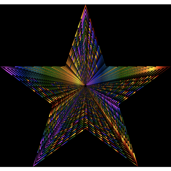 Psychedelic 3D Star Spikes