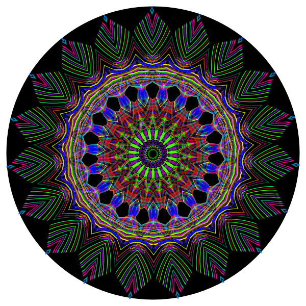 Psychedelic Geometric 7 With Background