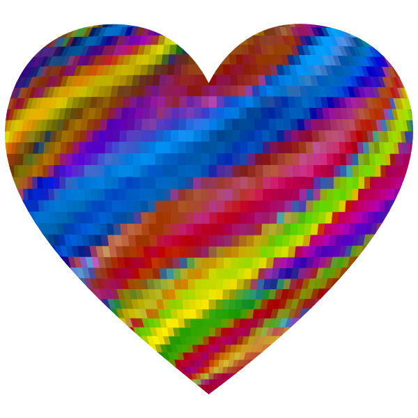 Psychedelic Mosaic Heart