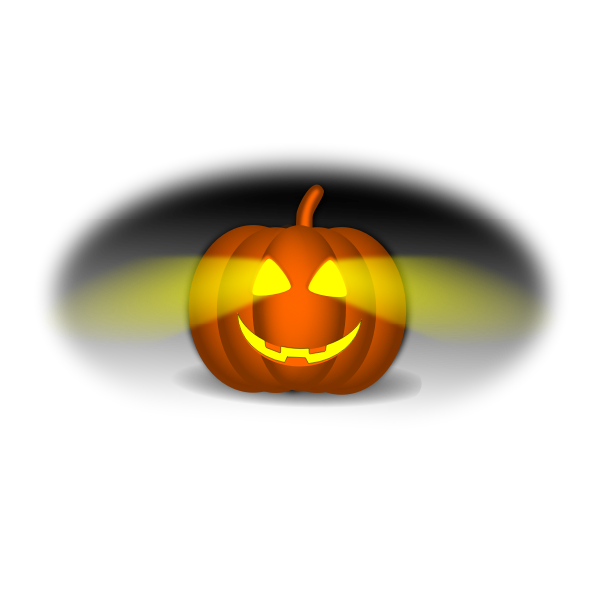 Lit-up Halloween pumpkin vector image